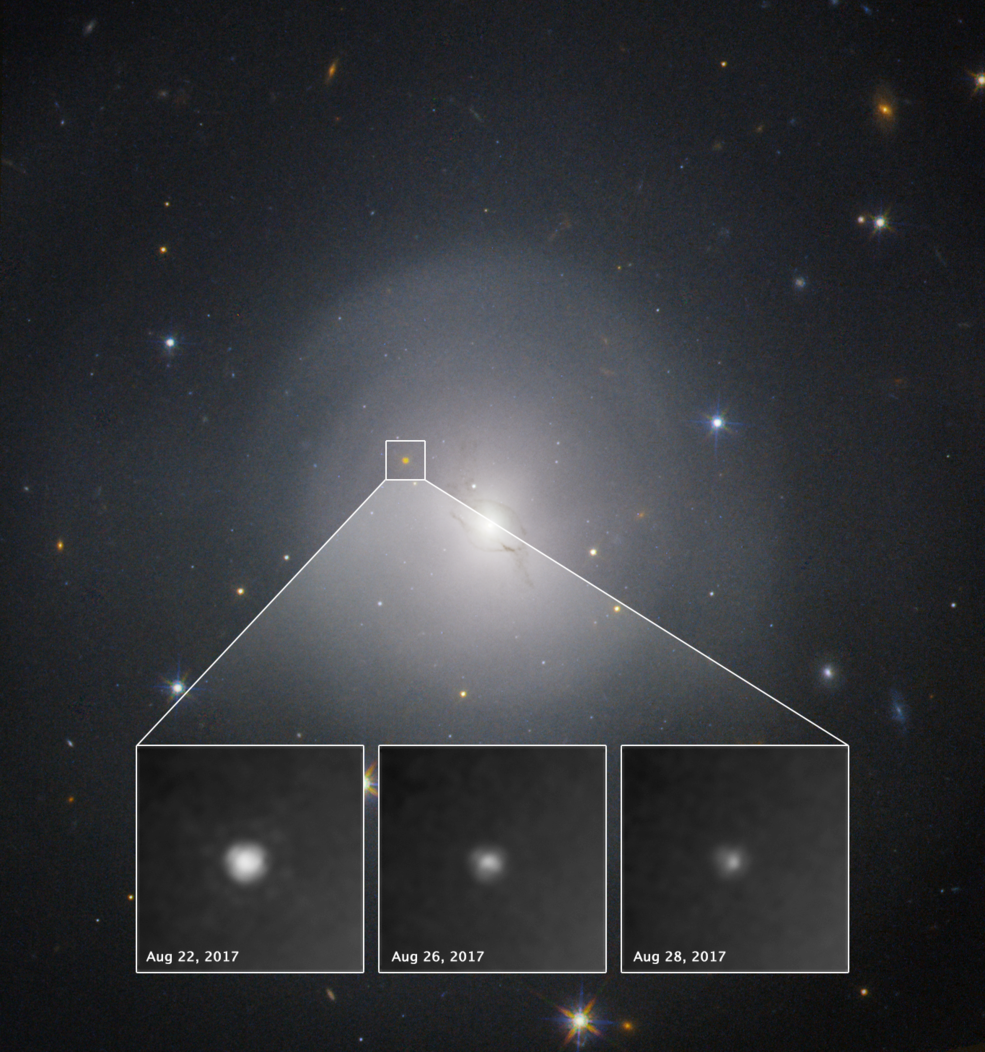 NASA's Hubble Space Telescope helped astronomers study the aftermath of GW170817.