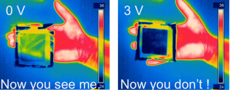 Graphene-Based Adaptive Thermal Camouflage, credit: Coskun Kocabas