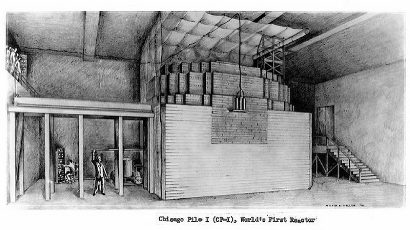 An illustration of the Chicago Pile 1. Credit: Argonne National Laboratory