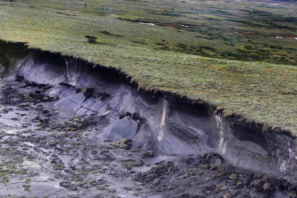 Thawing permafrost. Photo: Discover Magazine