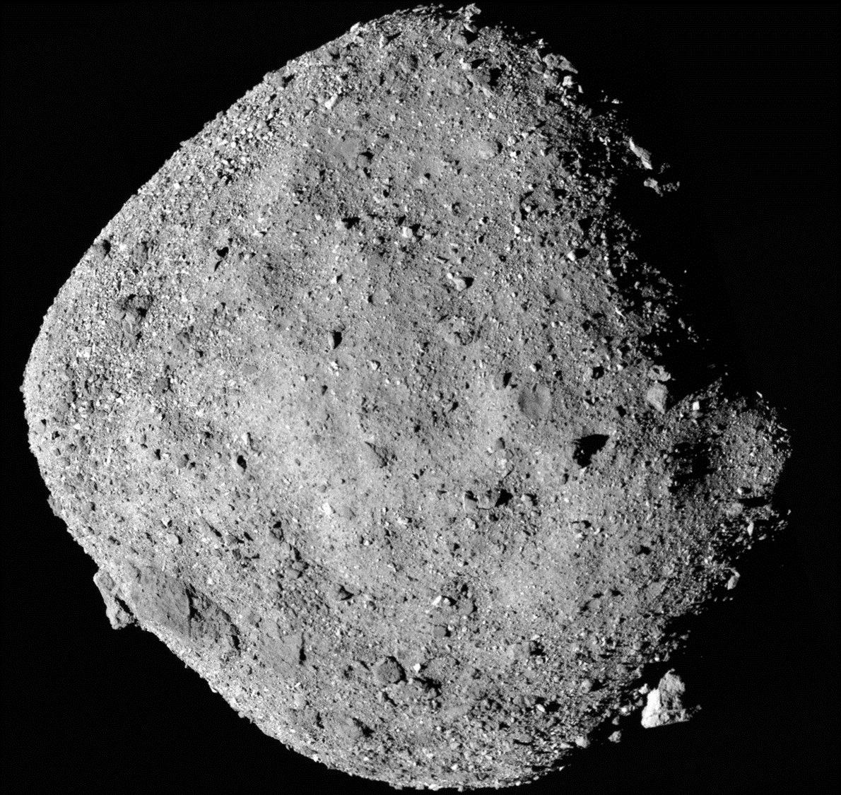 An image of Bennu taken by NASA's OSIRIS-REx spacecraft.