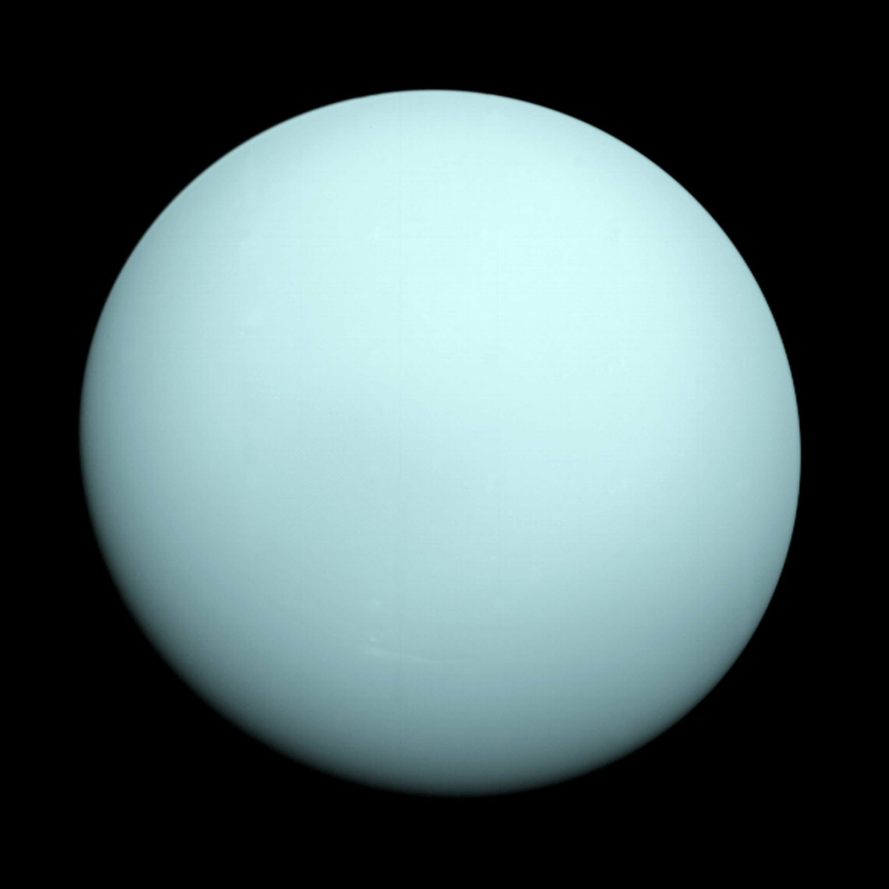 Uranus is a very bland-looking planet, but its clouds probably don't smell that great.
