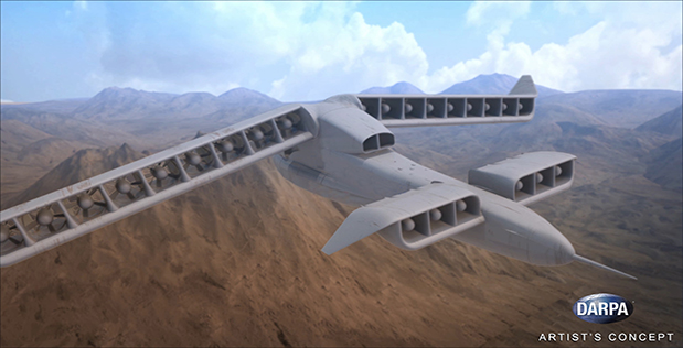 DARPA is working on a new VTOL airplane.