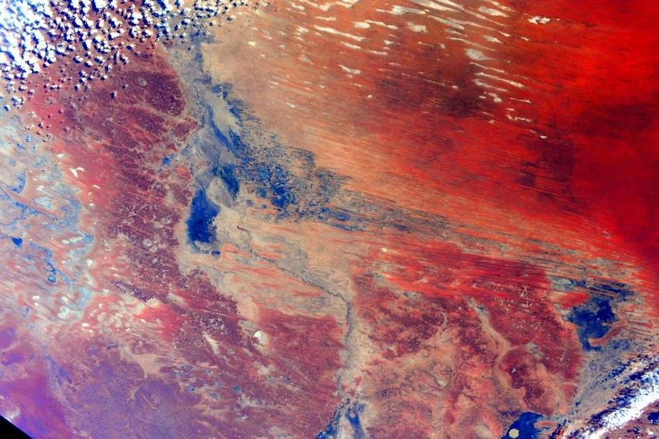 Space twin Scott Kelley took this picture of Australia as he began his year-long mission on the ISS.