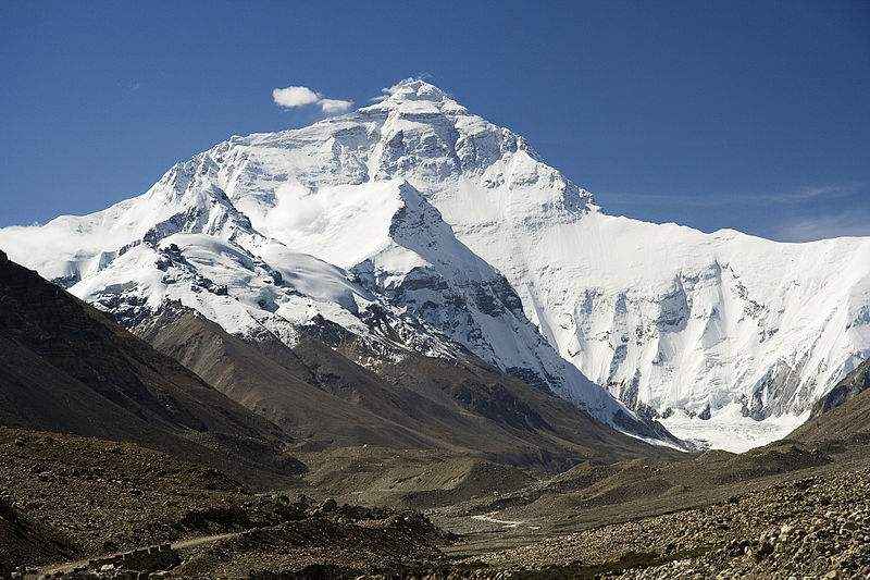 The North Face of Mount Everest. Scientists believe the height of the summit may have changed due to the earthquake in Nepal