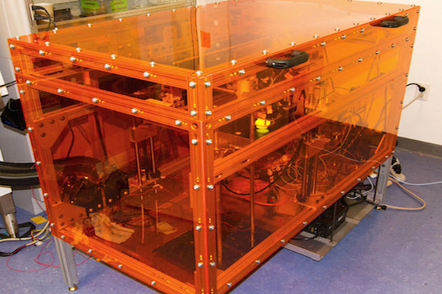 MultiFab is a 3D printer that can print with up to 10 different materials.