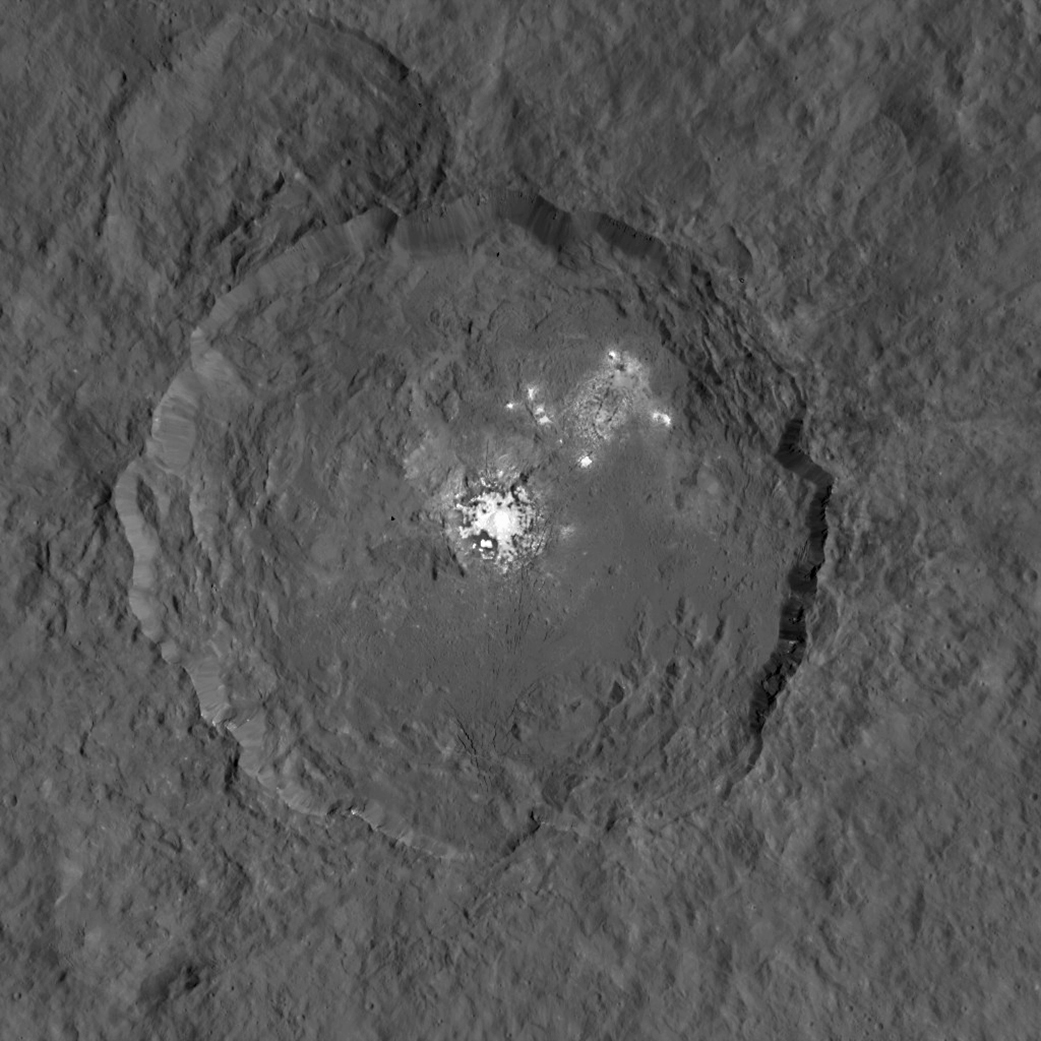 NASA's Dawn spacecraft has snapped high-resolution images of the bright spots on Ceres.