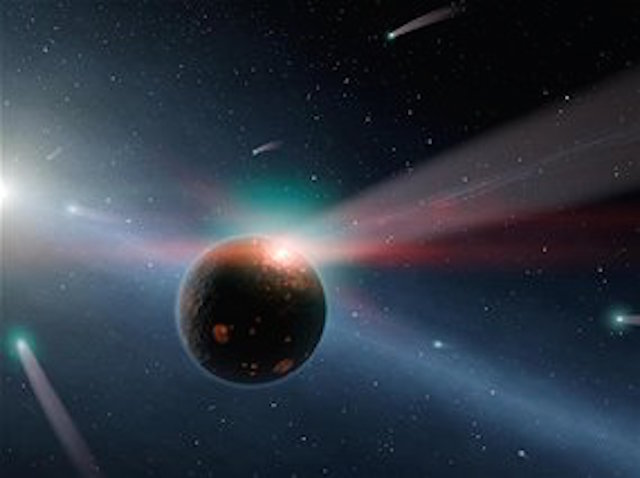 An artist's conception of a rogue planet