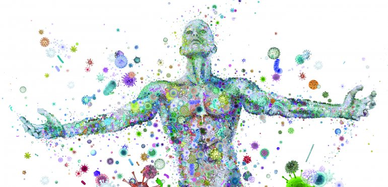 Microbes inhabit your body and the air around you.