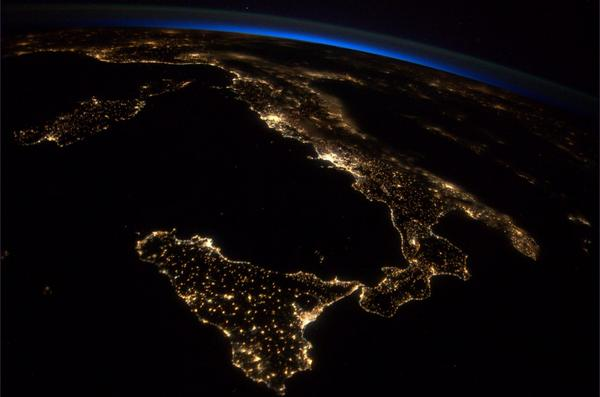 The boot of Italy, as seen from space